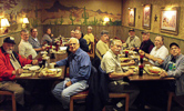 VHF Society lunch at Busters BBQ on Feb 22, 2014