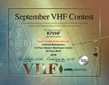 2016 September VHF Contest, Unlimited Multioperator