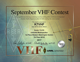 2017 September VHF Contest, Unlimited Multioperator